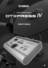 DTXPRESS IV Owner's Manual - American Musical Supply