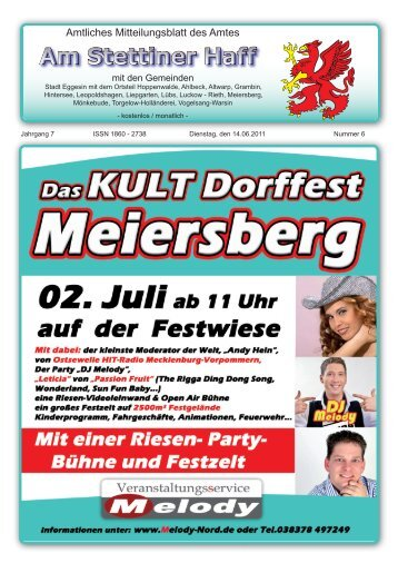 """fest des kirchenkreises pasewalk """"ja zur taufe"""" - Amt am Stettiner Haff"""