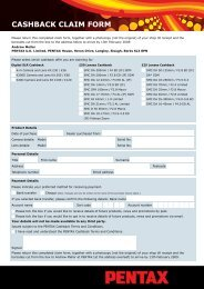 CASHBACK CLAIM FORM - Wex Photographic