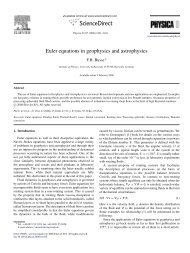 Euler equations in geophysics and astrophysics