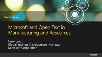 Business Challenge – Content Lifecycle - OpenText