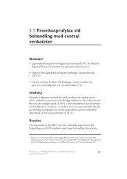 5.3 Trombosprofylax vid behandling med central venkateter - SBU