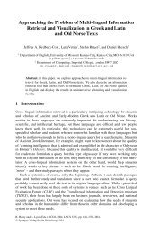 Approaching the Problem of Multi-lingual Information Retrieval and ...