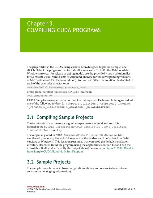 Chapter 3  COMPILING CUDA