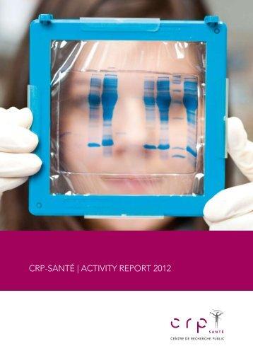 New activity report - CRP Santé