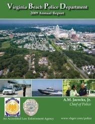 Virginia Beach Police Department 2009 Annual Report - City of ...