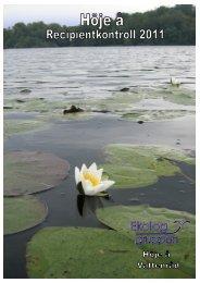Årsrapport för 2011 - Höje å vattenråd