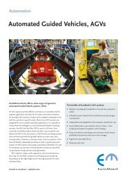 Automated Guided Vehicles, AGVs
