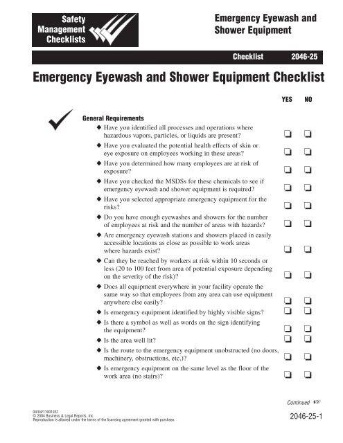 Eyewash Station Checklist Template - News Current Station In The Word