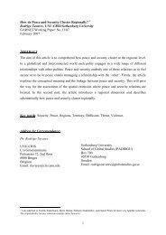 GARNET Working Paper No. 13/07