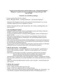Protokoll 12. März 2009 (vormittags) - Arbeitsgruppe der Koordinator ...