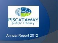Total Circulation Per Capita -- 2011 - Piscataway Public Library