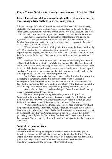Press release here - King's Cross Railway Lands Group