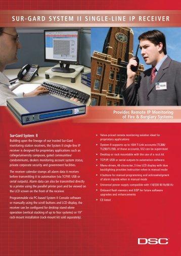 dsc surgard system ii sales spec sheet - Elvey Security Technology