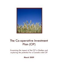 The Co-operative Investment Plan (CIP) - Canadian Co-operative ...