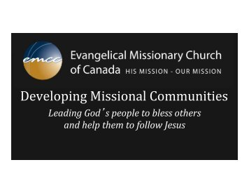Developing Missional Communities