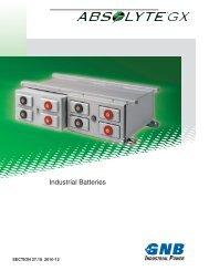 Absolyte GX Industrial Batteries - Exide Technologies