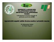 Agrotehnički aspekti zaštite životne sredine i ... - savetodavstvo
