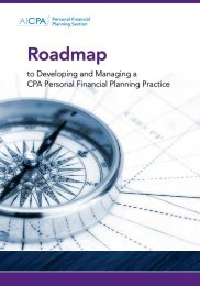 Roadmap for Developing & Managing a PFP Practice - AICPA