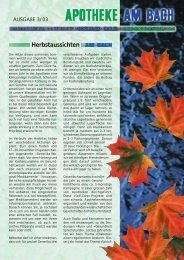Herbstaussichten - Apotheke am Bach