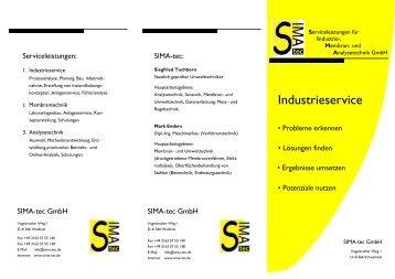 Faltblatt C5 Industrieservice - SIMA-tec