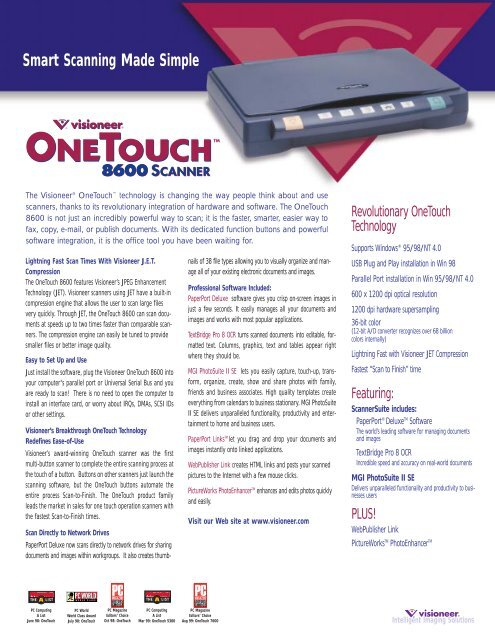 ONETOUCH 8600 SCANNER WINDOWS 10 DRIVER
