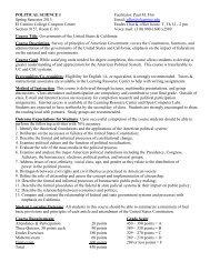 Political Science 1, Section 9157 - El Camino College Compton ...