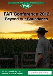 FAR Conference 2012