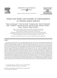Annual water balance and seasonality of evapotranspiration in a ...