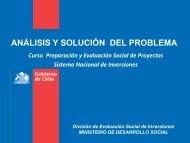 análisis y solución del problema - Sistema Nacional de Inversiones