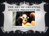 The Art of Creating Online Presence 101 - My Laureate