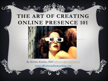 The Art of Creating Online Presence 101 - My Laureate
