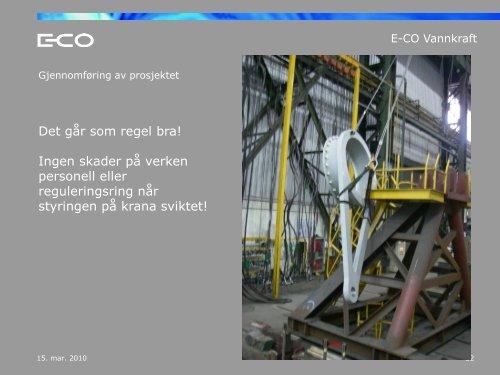 Prosjekt: Oppgradering Hol I kraftverk - Energi Norge
