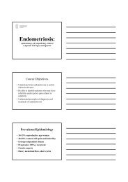 Endometriosis: Endometriosis: - eshre