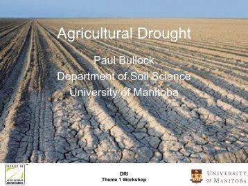 Paul Bullock - Agricultural Drought