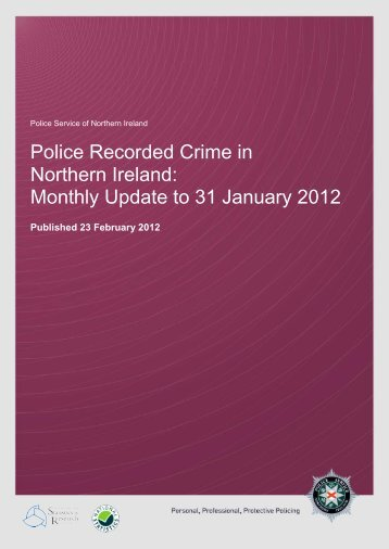 monthly crime bulletin apr-jan 11_12 - Police Service of Northern ...