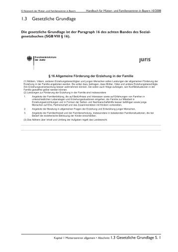1.3 Gesetzliche Grundlage - Landesverband Mütter- und ...