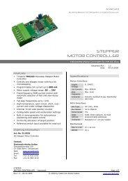 STEPPER MOTOR CONTROLLER - AVRcard
