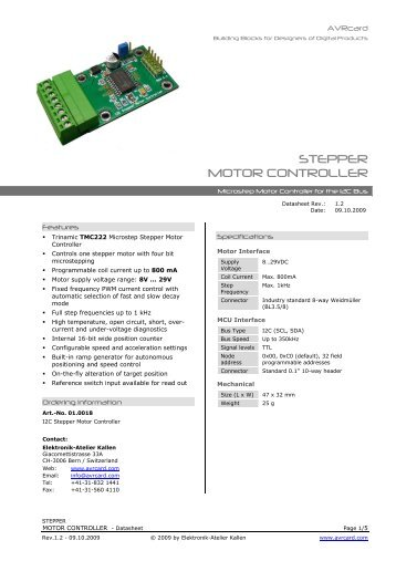 How To Control The Softmark Usb Stepper Motor Card From