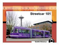 Seattle Streecar 101 (PDF, 34 MB) - Reconnecting America