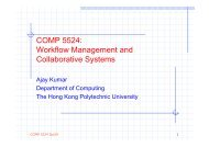 Lecture Notes #1 - Department of Computing - The Hong Kong ...