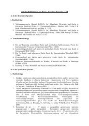 Liste der Publikationen von Dr.iur. Arkadiusz Wowerka, LL.M. A. In ...