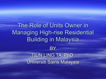 HIGH-RISE LIVING: ISSUE AND RIGHTS - Forum for Urban Future in ...