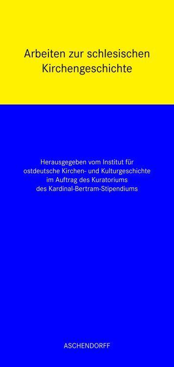 Arbeiten zur schlesischen Kirchengeschichte - Aschendorff