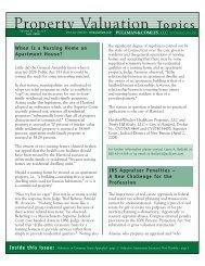 Property Valuation Topics Fall 2008 - Pullman & Comley LLC