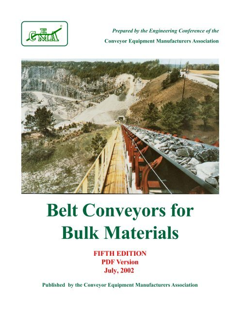 Belt Conveyors for Bulk Materials - Fifth Edition - PDF Version