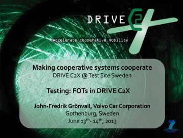 3 DRIVE C2X 3rd Test site event_John-Fredrik ...