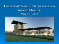 LAKEMONT COMMUNITY ASSOCIATION, INC. - Resident Interactive