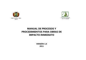 Manual de Procesos y Procedimientos para Obras de Impacto
