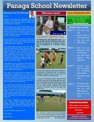 september 10 newsletter draft - Panaga School